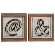 Add artful appeal to your home office or library with this typeface-inspired wall decor, perfect above the writing desk or bookcase.