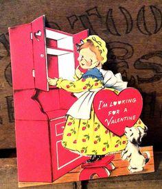 Vintage Antique Estate Valentine Greeting Card Old by MADVintology