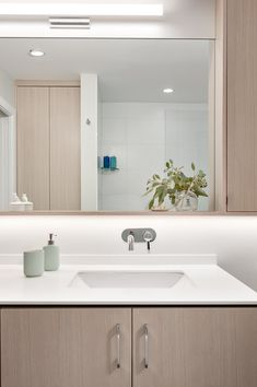 Madeleine Design Group's bathroom renovation in Vancouver, BC. *Re-pin to your own inspiration board* Contemporary Design, Modern Design, Small Condo, Bright Walls, Banquette Seating, Oak Cabinets, Large Windows, Beautiful Bathrooms, White Oak