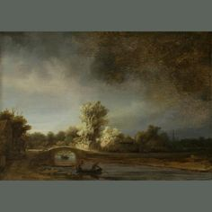 Rembrandt The Stone Bridge oil painting for sale; Select your favorite Rembrandt The Stone Bridge painting on canvas or frame at discount price. Rembrandt Paintings, Rembrandt Art, Dutch Golden Age, Roy Lichtenstein, Dutch Painters, Oil Painting Reproductions, Dutch Artists, Art Graphique, Fine Art
