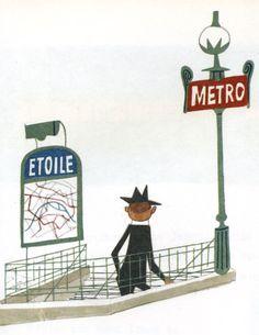 Miroslav Sasek - This is Paris  Etoile metro, beginning of CW24.