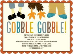 Join the Feast - Thanksgiving Party Invitations - Hello Little One - Adobe - Orange : Front