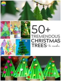 50+ Christmas Tree Crafts To Make This Christmas - find plenty of Christmas Tree art and craft activities to try at home or the classroom with your children | you clever monkey #christmasartideas #kidschristmasartideas #christmasartactivities