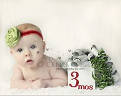 3 month old baby pose by selma