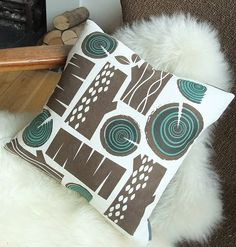 Log Pile Cushion by Roddy & Ginger