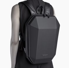 The Stealth Backpack is a classic example of United Nude signature geometric design. The bag is made with a press-moulded polycarbonate shell, a high-grade padded canvas body and nylon belt straps. Black Backpack, Backpack Bags, Leather Backpack, Look Fashion, Fashion Bags, Mens Fashion, Urban Bags, Designer Backpacks, Cool Backpacks