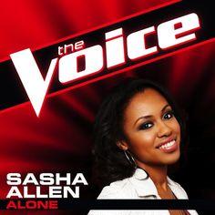 "iTunes download counts as a vote! Get Sasha Allen's ""Alone."" #TeamShakira #VoiceTop12"