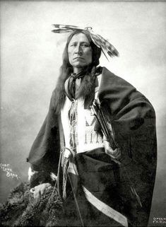Chief Lone Bear. Oglala Lakota. 1898. Photo by F.A. Rinehart.