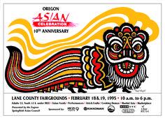 Oregon Asian Celebration poster circa 1995.