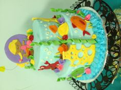 Mermaid birthday cake! www.bakedgoodies.com