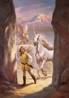 Petar Meseldzija Art - Unicorn Chronicle #2 - Scholastic Inc. USA, 50x70 cm (19 1/2 x 27 1/2 inch), oil on masonite, 2008