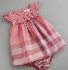 Designer Baby: Burberry Check Dress and Bloomers