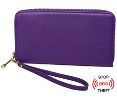 New Trending Purses: Womens RFID Blocking Leather Wallet Credit Card Holder Purse Clutch Organizer. Womens RFID Blocking Leather Wallet Credit Card Holder Purse Clutch Organizer  Special Offer: $9.99  411 Reviews Womens RFID Blocking Leather Wallet Credit Card Holder Purse Clutch Organizer by Oryer – Credit Card Protector * About the product – Style: RFID blocking...