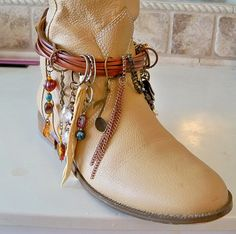 Boot bracelet boot jewelry boot blinggypsy by Lifeloveandmusic, $38.00