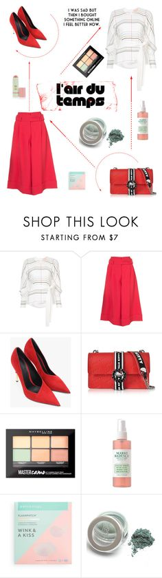 """""""I feel better now"""" by felicitysparks ❤ liked on Polyvore featuring Roksanda, Balmain, Pinko, Maybelline and Patchology"""