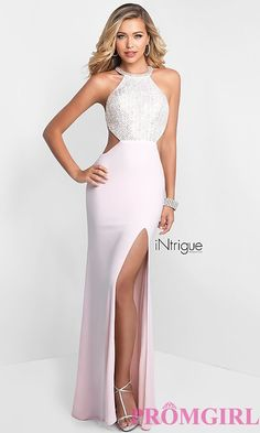 3a2bb775ca5 Long High-Neck Beaded Bodice Prom Dress. KleiderPlus Size ...