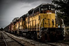 Old Chain of Engines - This is a chain of seven old engines from CSX sitting on an abandoned set of tracks in Walton County, Ga,