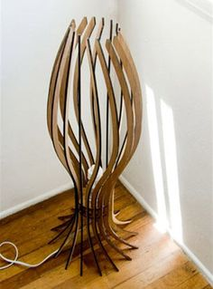Spore Lamp out of laser cut wood