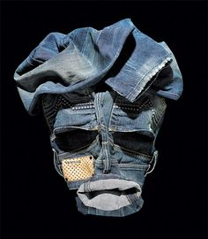 Faces made of clothing by Bela Borsodi