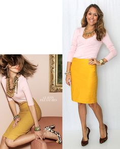 LOVE this color combo! I will have this JCrew skirt before the end of the season...mark my words! :D