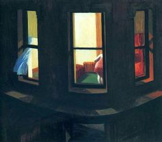 "bofransson: "" Night Windows, 1928 by Edward Hopper """