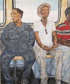 Maria Cruz Artwork Fine art acrylic painting  portrait observation human figure