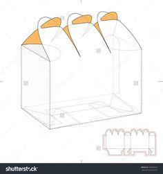 Six Pack Custom Top Lock Box With Die Cut Template Stock Vector Illustration 339969437 : Shutterstock