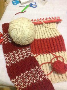 Taller de telar azteca en Lanzarote: mi experiencia personal. Post de Susana López Pulido. Elaboración de prendas en telar azteca usando lanas teñidas con Cochinilla de Lanzarote.