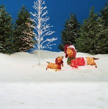 Tinsel Pre-Lit Dachshund Family 2-Piece Set from Big Lots $35.00 (13% Off) -