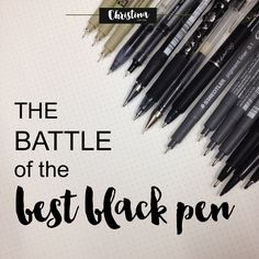 The battle of the best black pen - christina77star.co.uk