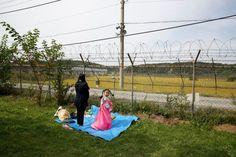 A mother and daughter during an ancestor-memorial service near the North Korean border in Paju, South Korea, on Oct. Image Of The Day, 2017 Photos, Time Photo, Stunning View, Photo Editor, Puerto Rico, Las Vegas, The 100, South Korea