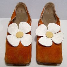 Vintage 1960s shoes sz 7 UK 4.5 orange spice by ForeverSexy, $135.00