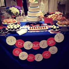 """dessert table 