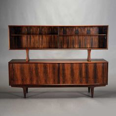 "Danish Bernhard Pederson & Son Rosewood Sideboard with Detachable China Cabinet, ""BPSM Made in Denmark"" #midcenturymodern #michaans http://www.michaans.com/highlights/2015/highlights_04112015.php"