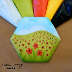 Field of poppies. Leaf Cookies, Flower Cookies, Cooking Flower, Sister Bay, Summer Cookies, Cookie Icing, Spring Design, Cactus Plants, Cacti