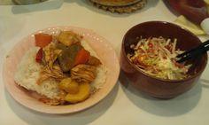 不味そう飯: コンニャク入りカレーシチューご飯。盛りつけ方でいくらでもまずそうに見えるという例である。味は悪くない...