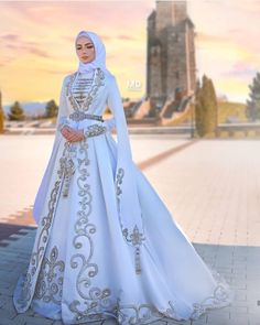 Muslim Wedding Gown, Muslimah Wedding Dress, Muslim Wedding Dresses, Hijab Bride, Princess Wedding Dresses, Wedding Attire, Bridal Outfits, Bridal Dresses, Pretty Dresses