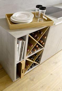 Moderne Küchenzeile - Krause Home Company Kitchen Interior, Wine Rack, Cabinet, Storage, Furniture, Home Decor, Twitter, Open Shelving, Kitchen Contemporary
