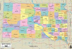 awesome Map Of South Dakota