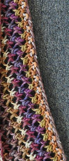 Free Knit lace scarf pattern: Rows 1 & 3 (WS): Purl Row *yo, rep from * Row *SSK, yo; rep from * across, end Rep these 4 rows. Crochet Lace Scarf, Bonnet Crochet, Knit Or Crochet, Crochet Scarves, Crochet Crafts, Crochet Projects, Scarf Knit, Knit Cowl, Crochet Beanie