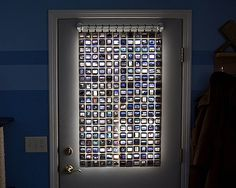 Window covering made from your old slides.