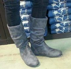 Microsuede slouch boots! Love!