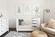 Friday Inspiration: Our Top Pinned Images — STUDIO MCGEE nursery inspiration, baby room decor, art for your nursery, botanical artwork.