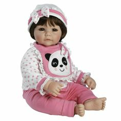 "Amazon.com : Adora Baby Doll, 20 inch ""Panda-riffic"" Brown Hair/Brown Eyes : Toys & Games"