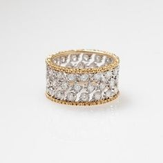 Buccellati wedding ring, diamond ring, gold ring, engagement ring