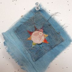 Image of Round Wishing Star by Jude Hill Embroidery Art, Embroidery Stitches, Sashiko Embroidery, Sewing Art, Sewing Crafts, Boro Stitching, Creative Textiles, Fabric Journals, Thread Art