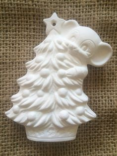 Vintage Ornament - Mouse on a Christmas Tree
