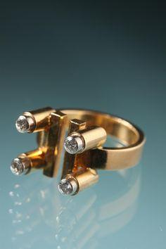 Gold ring Designed by Sigurd Persson, Sweden. 1960's.