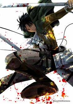 Shingeki no Kyojin - Jump, Levi! by NilaNandita.deviantart.com on @deviantART