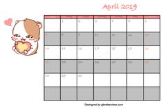 Here we give you the cute calendar printable April All the calendars on this website are free, we make designs with pleasure. If you like our calendar, please share it with your social media. Blank Calendar Template, Calendar Printable, Cute Calendar, Make Design, Free Printables, Templates, Stencils, Free Printable, Vorlage